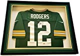 Packers Aaron Rodgers Signed Custom Framed Nike Football Jersey LSC Witness COA