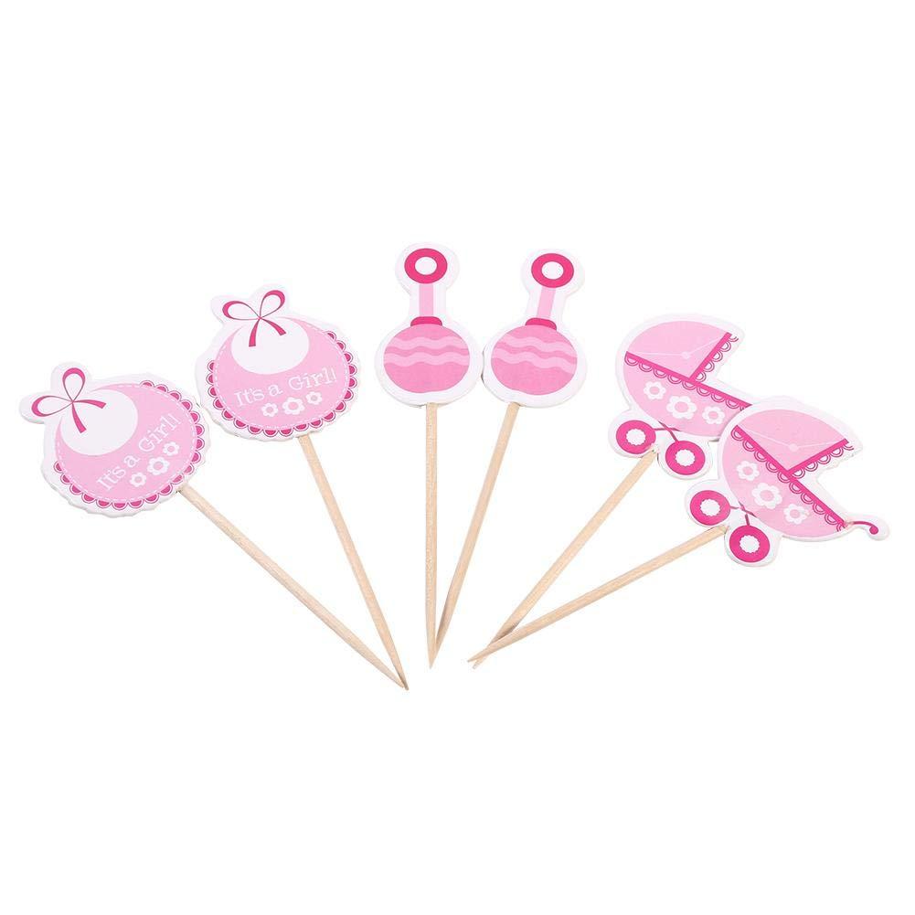 Azul Huakii 18pcs ni/ños cumplea/ños Lindo Cupcake Toppers Baby Shower Decoraciones de la Torta