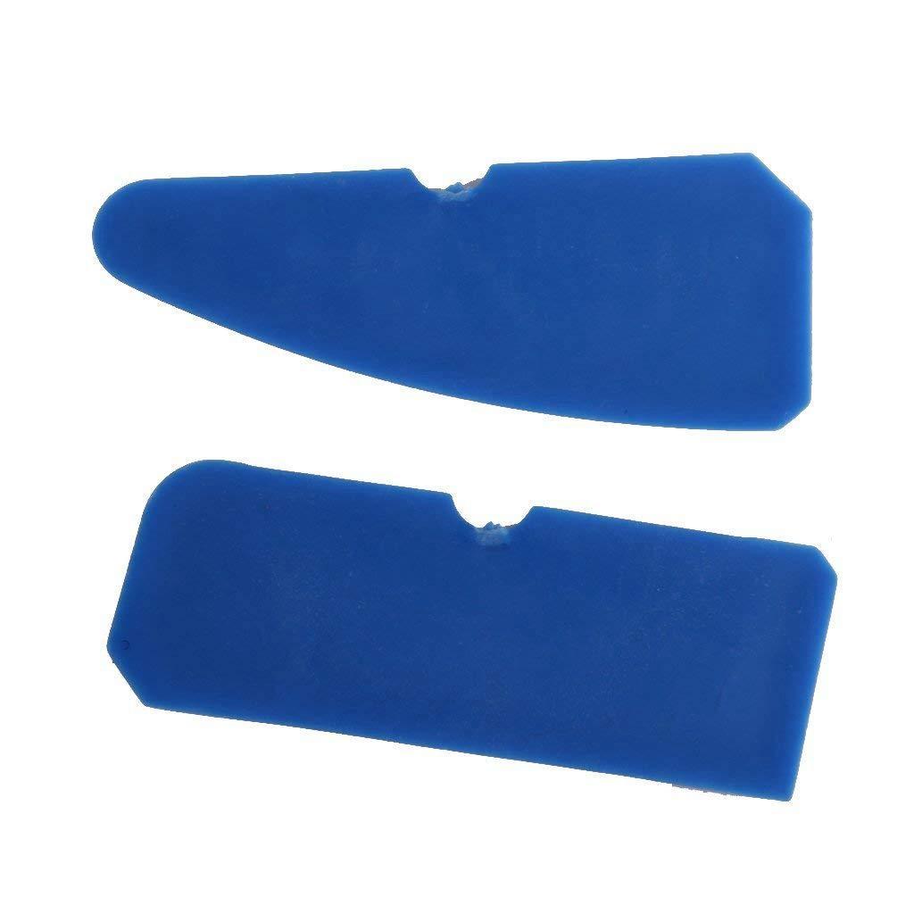 SODIAL Caulking Tool Kit 4pcs Grout Remover Silicone Sealer Scraper Blue