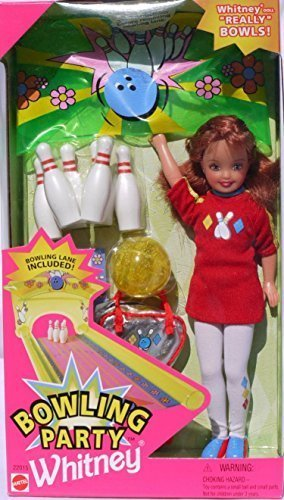 Barbie Bowling Party WHITNEY with Bowling Pins, Ball, Bag and More #22015 (1998) by Barbie