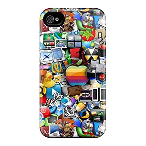 Tpu Shockproof/dirt-proof Abstract 3d Cover Case For Iphone(4/4s)