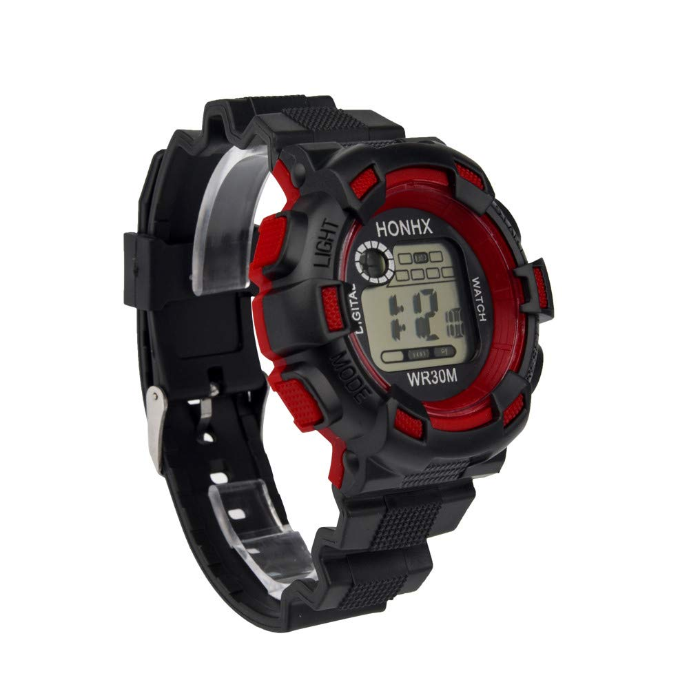 Amazon.com: XGUMAOI Analog Digital Military Army Sport Watch Luxury Mens LED Waterproof Wrist Watch (Red): Jewelry