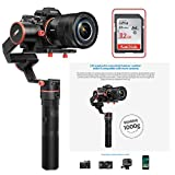 Feiyu a1000 FeiyuTech a1000 3-Axis Gimbal, Compatible with NIKON/SONY/CANON Series DSLR Camera/GoPro Action Camera/Smartphone,1 KG Payload,Damping Sliding Arm,45 Degree Elevation Design