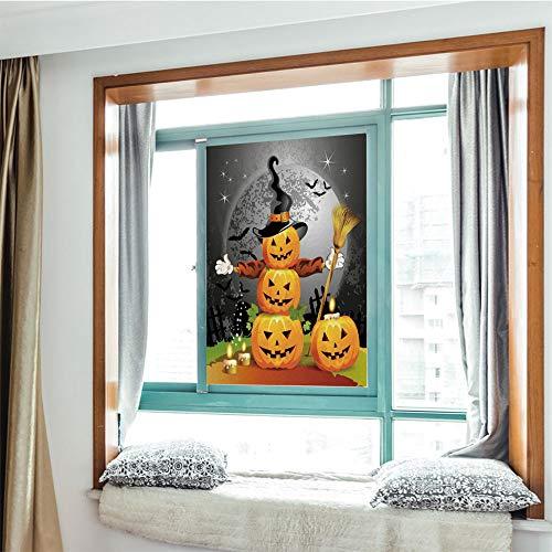 YOLIYANA Frosted Glass Window Film No Glue Privacy Window Cling 3D Halloween Glass Stickers for Bathroom 24