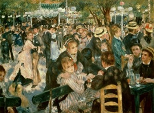 Posterazzi Ball at the Moulin de la Galette Montmartre 1876 Pierre-Auguste Renoir (1841-1919/French) Oil on canvas Musee d'Orsay Paris Poster Print (24 x 36)