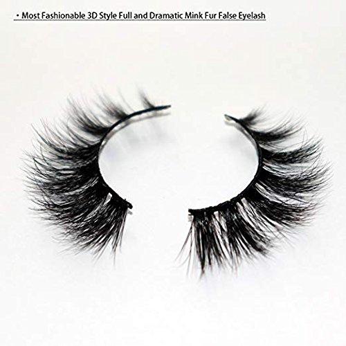 0% Siberian Mink Fur Hand-made False Eyelashes 1 Pair Package ()