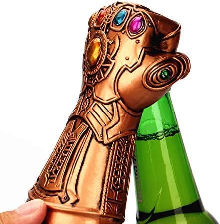 Uteruik Abrebotellas de cerveza, Thanos Glove abrebotellas de vino, abridor de tapas de botella de vino, Marvel Iron Cool Wine Glove Sacacorchos para casa/fiesta/bar