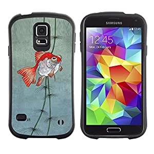 Paccase / Suave TPU GEL Caso Carcasa de Protección Funda para - Pond Gold Underwater Fisherman Dive - Samsung Galaxy S5 SM-G900