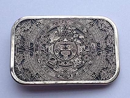 Amazon.com: Laliva Hebillas Cool Aztec Calendario para ...
