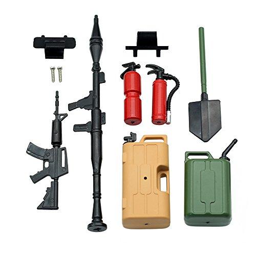 1 10 RC Accessories Tool Set Kit, RC Crawler Decoration for RC4WD D90 D110 Axial SCX10 Tamiya - Kit Crawler