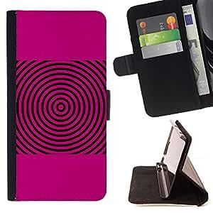 BullDog Case - FOR/Sony Xperia Z2 D6502 / - / PINK SOUND WAVES MUSIC DISC VINYL /- Monedero de cuero de la PU Llevar cubierta de la caja con el ID Credit Card Slots Flip funda de cuer