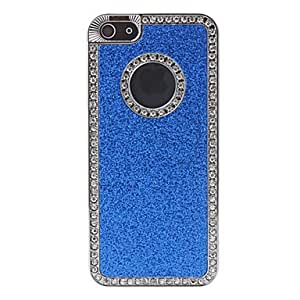 Stylish Shimmering Hard Case with Diamond for iPhone 5/5S (Assorted Colors) , Black