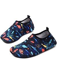 c9204f745725 Kids Boys Girls Water Shoes Barefoot Quick Dry Aqua Socks Swim Shoes ( Toddler Little
