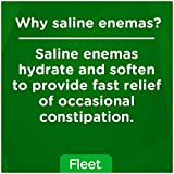 Fleet Laxative Saline Enema | 4.5 oz | Pack of 48 | Fast Constipation Relief in Minutes