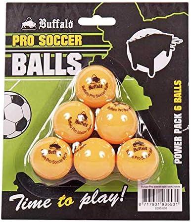 Buffalo. nl Pro Set/6 Pelotas – Mesa de futbolín, Unisex Adulto ...