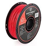 HATCHBOX ABS 3D Printer Filament, Dimensional Accuracy +/- 0.03 mm, 1 kg Spool, 1.75 mm, Red