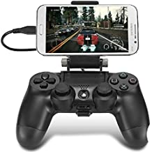 CEStore® 180 Degree Angle View Adjustable Android Smart Phone Mount Bracket Holder Stand for Sony PS4 Dualshock 4 Controller Gamepad Maximum 7.9 inch Nokia N1 Samsung Galaxy S6 with OTG Cable (Black)