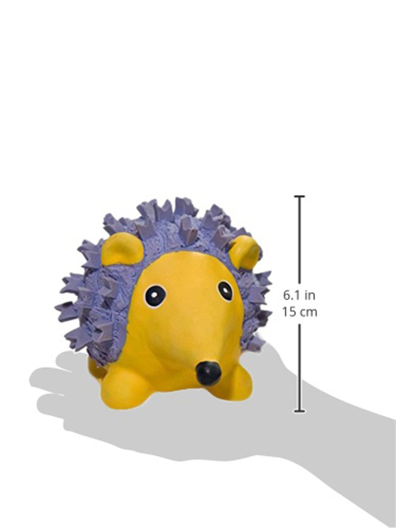 HuggleHounds Ruff-Tex Squeaky Tough Dog Chew Toy All Natural, Hedgehog, Large by HuggleHounds (Image #2)