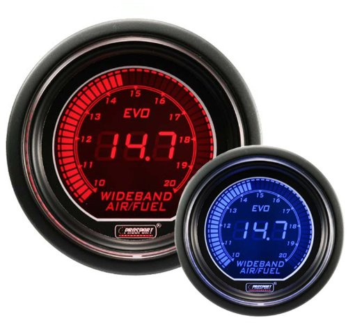 Wideband Digital Air Fuel Ratio Kit Blue/Red EVO Series 52mm (2 1/16