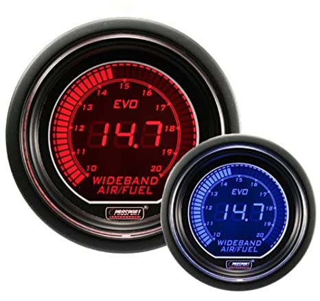 51aIOHrGrtL._SX466_ amazon com wideband digital air fuel ratio kit blue red evo prosport water temp gauge wiring diagram at suagrazia.org