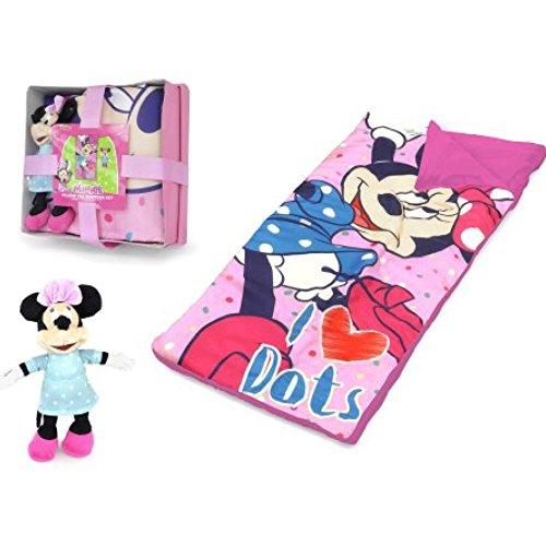 Kids Disney Minnie Mouse Sleeping Bag with Figural Pillow by Kids