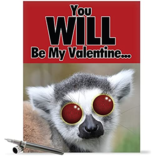 J1681VDG Jumbo Funny Valentine's Day Card: You Will Be My Valentine With Envelope (Extra Large Version: 8.5 x 11) Sales