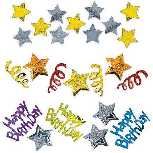 Happy Birthday Stars Confetti ハッピーバースデースターコンフェッティハロウィンクリスマス   B007IULESC