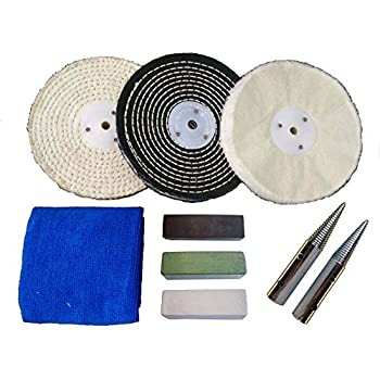 6 Quot Stainless Steel Polishing Buffing Kit Use On Bench