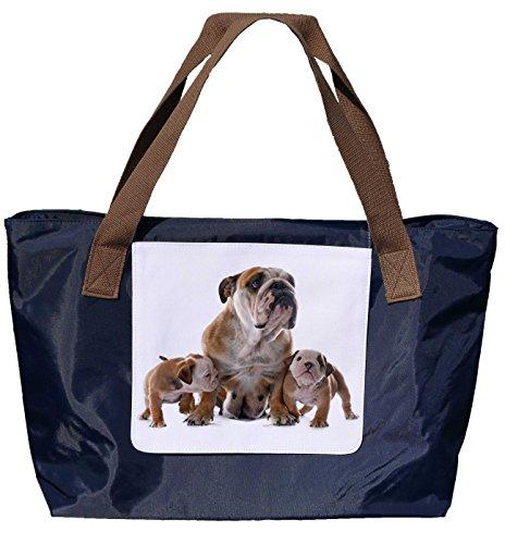 a18fd099e24e2 Shopper  Schultertasche   Einkaufstasche   Tragetasche   Umhängetasche aus  Nylon in Navyblau - Größe 43x33cm