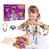 Snap Pop Beads Girls Toy - Happytime 180 Pieces DIY Jewelry Kit Fashion Fun for Necklace Ring...