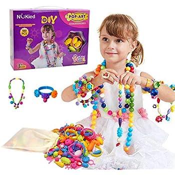 Amazon.com: Snap Pop Beads Girls Toy - Happytime 180