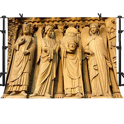Notre Dame Embossed Background MME 10x7Ft Paris Landmark Gothic Church Background Photo Booth Video Studio Props HXME088