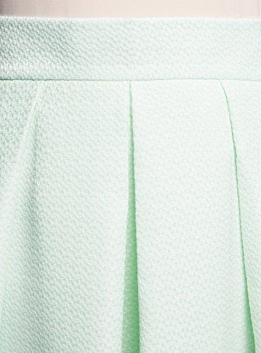 oodji Collection Mujer Falda Midi con Pliegues Verde (6000N)