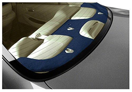 Coverking Custom Fit Rear Deck Cover for Select Passport Models - Velour (Dark Blue)