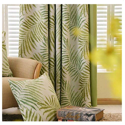MYRU Pastoral Flower Blackout Curtains,Tropic Window Draperies,Nice Room Decor (2 Panels 54