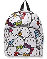Hello Kitty Faux Leather Mini Backpack : Muti Color Faces
