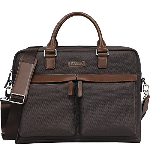 Banuce Waterproof Leather Briefcase Messenger
