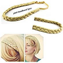 Merrylight Varies Color Elastic Stretch Plaited Braid Hair Headband Sythentic Hair Piece