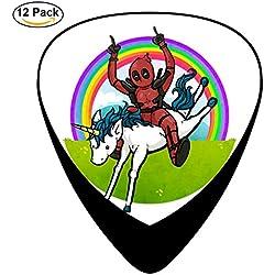 Premium Picks Sampler Invader Zim Deadpool Tacos and Unicorns - 12 Pack Includes Thin, Medium & Heavy Gauges