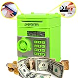 Coin Bank for Kids,Kpaco Code Electronic Money Banks,Mini ATM Coin Password Box Saving Banks,Baby Toys Gifts Birthday Gifts for Kids - Green