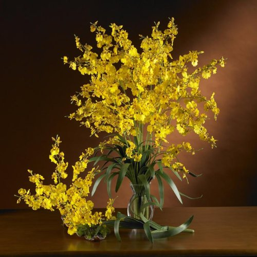 Yellow Dancing Lady (Set of 12) by Nearly Natural