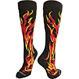 MadSportsStuff Flame Socks Athletic Over The Calf Socks (Multiple Colors)