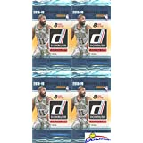 2018/2019 Panini Donruss NBA Basketball Collection of FOUR(4) Factory Sealed Retail Packs with 32 Cards! Loaded with ROOKIES & INSERTS! Look for RC & Autos of Deandre Ayton,Luka Doncic & More! WOWZZER