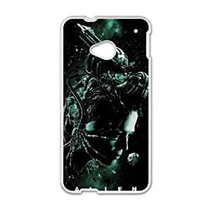 Alien Xenomorph HTC One M7 Cell Phone Case White TPU Phone Case SV_247955