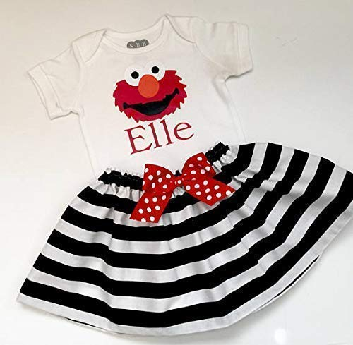 (Elmo Birthday Personalized outfit - Girls)