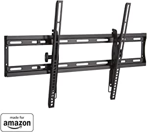 All New, Made for Amazon Low Profile Tilting TV Wall Mount Bracket for 40-75 TVs