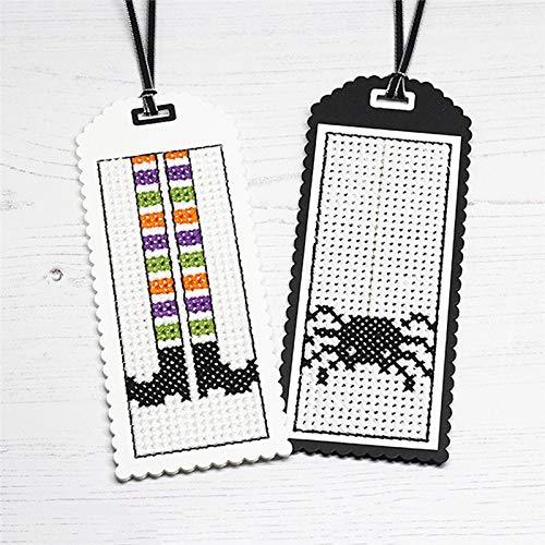 MeikoTan 2Pcs Metal Cutting Dies Cross-Stitch Tag Bookmark for Scrapbooking 2019 NewCard Album Making Paper Craft Border Dies -