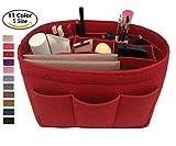 LEXSION Felt Handbag Organizer ,Insert purse organizer Fits Speedy Neverfull Red 2XL