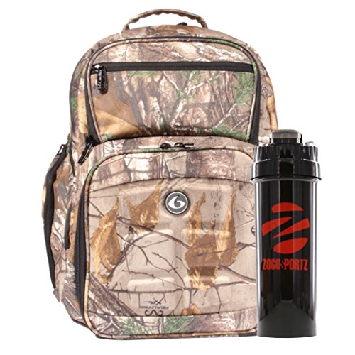 6 Pack Fitness Limited Edition Realtree Expedition Backpack Meal Management System 300 Camo With Removable Meal Core