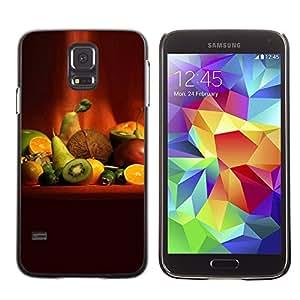 Caucho caso de Shell duro de la cubierta de accesorios de protección BY RAYDREAMMM - Samsung Galaxy S5 SM-G900 - Fruit Macro Fruit Art